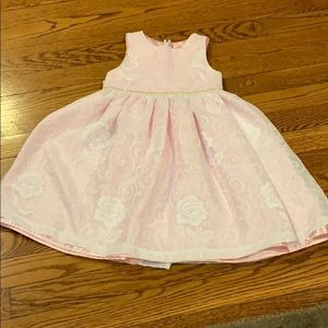 Rose detailed and rinestone dress size 4